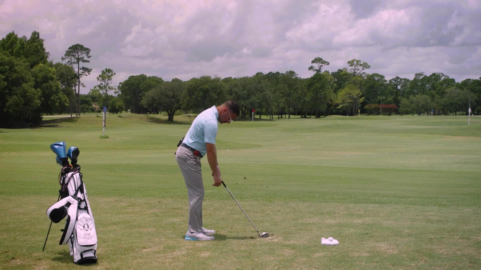 how far should you stand from your golf ball