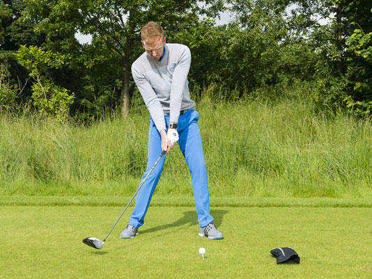how to address a golf ball with driver